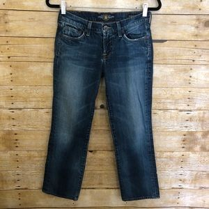Lucky Brand Sweet'n Straight Crop Blue Jeans